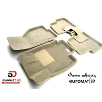 Текстильные 3D коврики Euromat3D Business в салон для Mercedes B-Class (W247) (2018-) № EMC3D-003510T Бежевые