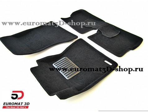 Текстильные 3D коврики Euromat3D Lux в салон для Cadillac CTS (2007-) (2WD) № EM3D-001301